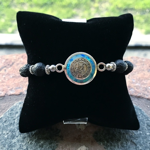 Silverskylight Jewelry - Sterling silver opal aztec mayan mexican coin